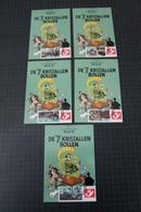 TINTIN /Kuifje - Hergé - Carte Postale+ 5 Timbres Différents - Emission 5 -DUOSTAMPS - DE 7 KRISTALLEN BOLLEN - !!RARE!! - België