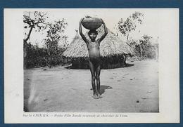 Sur Le CHIN KO - Petite Fille Zandé Revenant De Chercher De L'eau - Congo - Brazzaville
