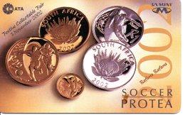 Guépard Cheetah Monnaie Pièce Money Argent Télécarte South Africa Phonecard  (G706) - Afrique Du Sud