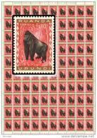 Ruanda 0205** Gorille - Sheet / Feuille De 100  - MNH - - Full Sheets