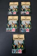TINTIN Kuifje Hergé - Carte Postale + 5 Timbres Différents -Emission 2 - DUOSTAMPS  - TINTIN - De Zonnetempel - !!RARE!! - België