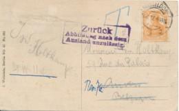 Ansichtskarte Düsseldorf 23.6.17 Naar Antwerpen - Zurück Abbildung Nach Dem Ausland Unzulässig - Guerre 14-18