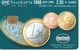 Monnaie Pièce Euro Money Argent Télécarte Grèce Phonecard  (G709) - Grèce
