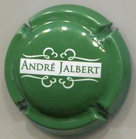 CAPSULE-CIDRE JALBERT André Vert & Blanc - Capsules & Plaques De Muselet