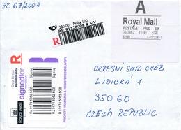 N0549 - Great Britain / Czech Rep. (2007) R-letter (R-label UK / Spec. R-label CR) 220 00 Praha 120 - Czech Republic
