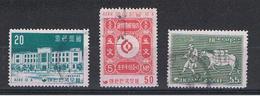 COREA  DEL  SUD:  1956  GIORNATA  DEL  FRANCOBOLLO  -  S. CPL. 3  VAL. US. -  YV/TELL. 172/74 - Corea Del Sud
