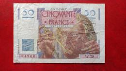 """50 Francs """"Le Verrier"""" - 1946 - France - 1871-1952 Antiguos Francos Circulantes En El XX Siglo"""