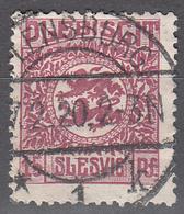 SCHLESWIG      SCOTT NO 5   USED     YEAR  1920 - Schleswig-Holstein