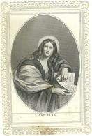 HOLY CARD - CANIVET - IMAGE PIEUSE RELIGIEUSE - DENTELLE - EDITEUR VAURS - SAINT JEAN - Images Religieuses