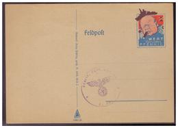 DT- Reich (007451) Propaganda, Feldpostkarte Churchill, Wert Keinen Pfennig, Blanco Stempel Feldpost, Sonst Ungebraucht - Deutschland
