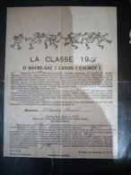 Faire-part Honneur Aux Anciens Classe 1919 - Documents