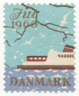 Denmark 1960, Julemaerke, Christmas Stamp, Cinderella, Used - Denmark