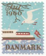 Denmark 1960, Julemaerke, Christmas Stamp, Cinderella, Used - Other