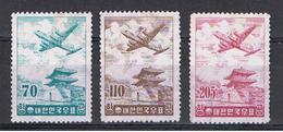 COREA  DEL  SUD:  1954/56  P.A.  ORDINARIA  -  3  VAL. S.G.- S.G.- US. -  YV/TELL. 15 A//18 - Corea Del Sud