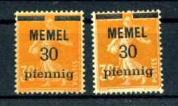 Z51435)Memel 21 X/y**, Luxus - Memelgebiet