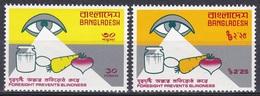 Bangladesch Bangladesh 1976 Organisationen UNO ONU WHO Gesundheit Health Blindheit Blindness, Mi. 72-3 ** - Bangladesch