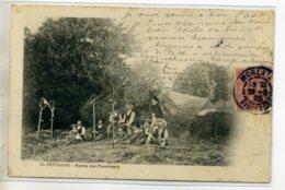 29 EN BRETAGNE Repos Des Faucheurs Beau Plan 1905 écrite MORLAIX  Agriculture E  /DS-2016 - Francia