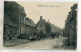 59 ARNEKE Carte Rare Anim Rue Eglise Boulangerie Edit Local  /DS-2016 - Autres Communes