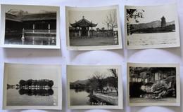 6 Petites Carte Photo Chine ? Pagode Lieu à Identifier - A Identifier