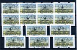 Z54373-4)Berlin ATM Versandstellensatz Gest. - Oblitérés