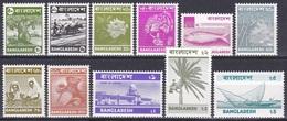 Bangladesch Bangladesh 1976 Pflanzen Plants Kokos Cocos Bambus Jackfruit Tiere Animals Tiger Fisch Bauwerke, Mi. 59-9 ** - Bangladesch