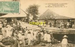 Guadeloupe, Trois-Rivières, Le Marché Au Bord De Mer, Belle Carte - Otros