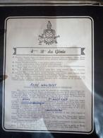 Faire-part Honneur Aux Anciens Classe 1957 - Documents
