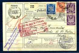 Z57076)DR 2 Stück 349 U. A. Auf Paketkarte - Deutschland