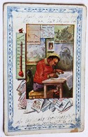 CPA écolier écrite De Montervault 1915 Correspondance Militaire Guerre 14-18 WWI - A Identifier