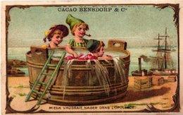 7 Chromo Litho PUB C1880 à 1890 BENSDORP Chocolate Chokolade, Gedrukt Voor Frankrijk France Apporx. 7X10,5cm - Chocolade