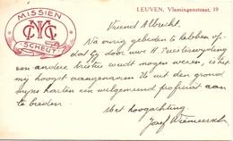 Visitekaartje - Carte Visite - Josef Wiemeersch - Missien Scheut Leuven - Cartes De Visite