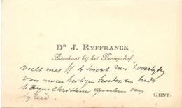 Visitekaartje - Carte Visite - Advocaat Dr. J. Ryffranck - Gent - Cartes De Visite