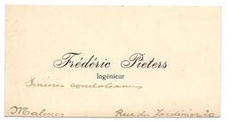 Visitekaartje - Carte Visite - Ingenieur Frédéric Pieters - Malines Mechelen - Cartoncini Da Visita