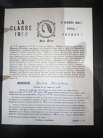 Faire-part Honneur Aux Anciens Classe 1959 - Documents
