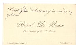 Visitekaartje - Carte Visite - Onderpastoor OLVr Dendermonde - Basiel De Pauw - Cartes De Visite
