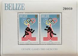 Belize 1980 Summer Olympics, Moscow S/S Scott 459 $20 - Belize (1973-...)