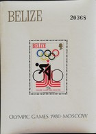 Belize 1980 Summer Olympics, Moscow S/S Scott 460 $20 - Belize (1973-...)