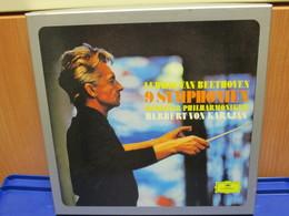 LP010 - COFANETTO 8 LP LUDWIG VAN BEETHOVEN - 9 SYMPHONIEN - BERLINER PHILHARMONIKER - HERBERT VON KARAJAN - Classica