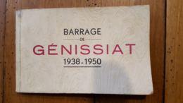 BARRAGE DE GENISSIAT 1938-1950 CARNET DE 10 VUES - Génissiat