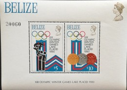 Belize 1980 Winter Olympics,Lake Placid S/S - Belize (1973-...)