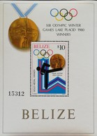 Belize 1980 Winter Olympics,Lake Placid S/S  Gold Medal Winner - Belize (1973-...)