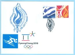Greece Grèce Griechenland 2017, 2018 Winter Olympics Pyeongchang South Korea, Torch Relay, ATHENS Handing-over Ceremony - Winter 2018: Pyeongchang