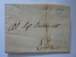 """Documento Viaggiato Manoscritto Da Penne   """"CIRCOLARE REALE DECRETO 15 MAGGIO  1800 - SINDACO DI  ELICE """" - Fine Arts"""