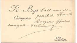 Visitekaartje - Carte Visite - Onderpastoor R. Brys - Aalter - Cartoncini Da Visita