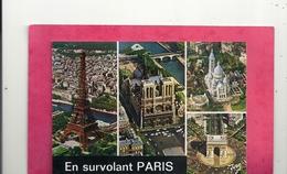 """CPM.  PARIS . MULTIVUES """" EN SURVOLANT PARIS """"   VUS DU CIEL Par ALAIN PERCEVAL . CARTE NON ECRITE - France"""