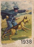 Thematiques Calendriers Publicitaire Cirage Crème Eclipse Année 1938 Police Avec Son Chien Policier - Calendriers