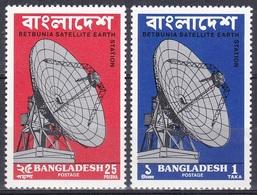 Bangladesch Bangladesh 1975 Technik Kommunikation Erdfunkstelle Satellite Earth Station Funk Parabolantenne, Mi. 55-6 ** - Bangladesch