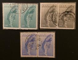 TAIWAN Formose 1957 YT N°246 à 248 - 1945-... Republic Of China