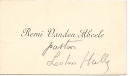 Visitekaartje - Carte Visite - Pastoor Lotenhulle - Remi Vanden Abeele - Cartoncini Da Visita