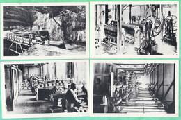 LIMOGES - FABRICATION DE LA PORCELAINE - SERIE DE 12 CPA NUMEROTEES DE I A XII - 4 SCANS - Limoges